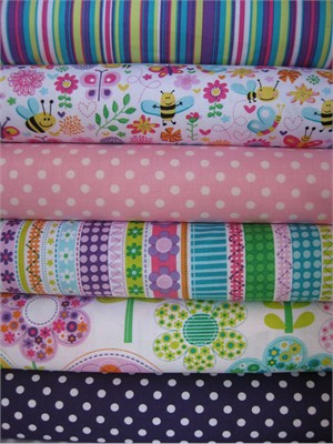 Michael Miller, Girly Bees in FAT QUARTERS 6 Total