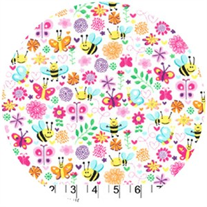 Michael Miller, Girly, Busy Bee Pink