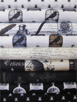Michael Miller, Nevermore, Entire Collection in FAT QUARTERS 9 Total