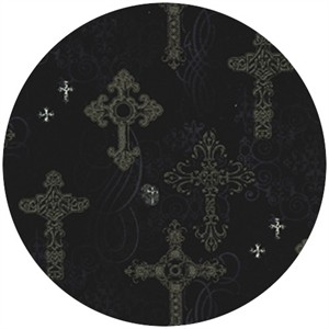 Michael Miller, Nevermore, Ornate Crosses Black