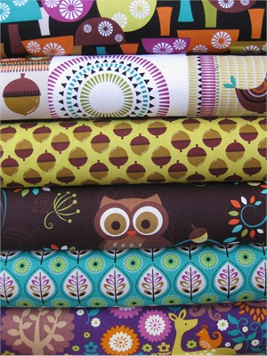 Michael Miller, Norwegian Woods in FAT QUARTERS, 6 Total