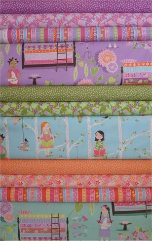 Michael Miller, Princess and the Pea in FAT QUARTERS 10 Total (PRE-CUT)