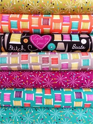 Michael Miller, Sew Much Madness in FAT QUARTERS, 7 Total