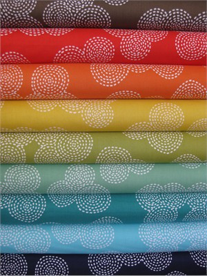 Michael Miller, Stitch Basics, Stitch Circle Sampler in FAT QUARTERS, 9 Total