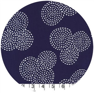 Michael Miller, Stitch Basics, Stitch Circle Navy
