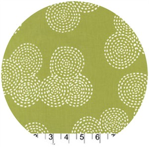 Michael Miller, Stitch Basics, Stitch Circle Olive