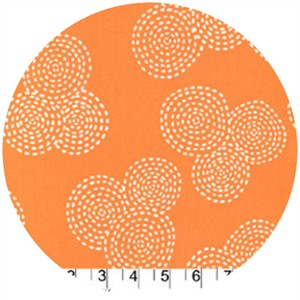 Michael Miller, Stitch Basics, Stitch Circle Orange