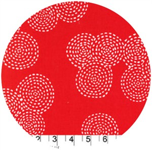 Michael Miller, Stitch Basics, Stitch Circle Red