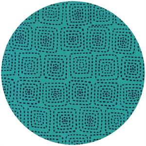 Michael Miller, Stitch Basics, Stitch Square Turquoise