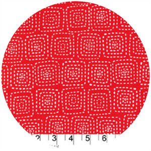 Michael Miller, Stitch Basics, Stitch Square Red