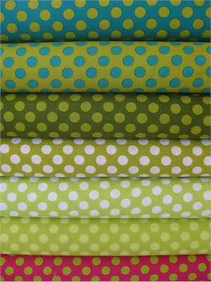 Michael Miller, Ta Dot, April Skies in FAT QUARTERS, Total 7