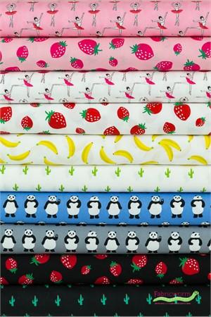 Sevenberry for Robert Kaufman, Mini Prints in FAT QUARTERS 10 Total