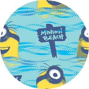 Quilting Treasures, Minions, Minion Beach Blue