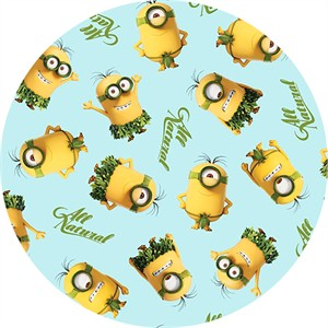 Quilting Treasures, Minions, All Natural Minion Toss Light Blue