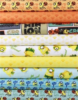 Quilting Treasures, Minions in FAT QUARTERS 9 Total