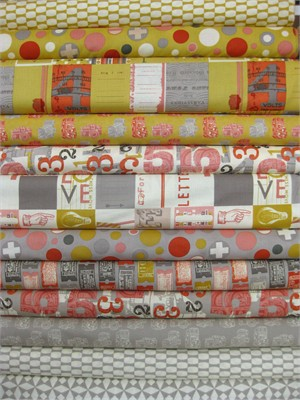 Moda, 2wenty Thr3e, Mustard/Pavement in FAT QUARTERS 11 Total