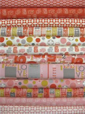 Moda, 2wenty Thr3e, Petal/Clementine in FAT QUARTERS 12 Total