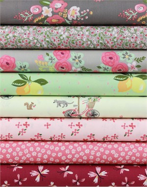Monaluna, ORGANIC, Bloom in FAT QUARTERS 8 Total