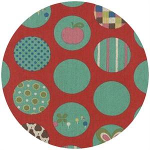 Momo, Avant-Garden, Linen, Dot Spot Cherry