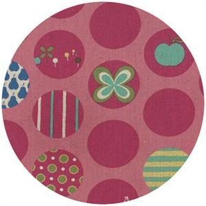 Momo, Avant-Garden, Linen, Dot Spot Petal Pink