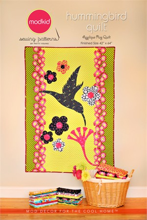 Modkid Boutique Sewing Patterns by Patty Young, Hummingbird Quilt
