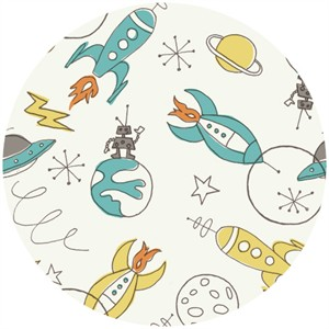 Monaluna Circa 52, Organic Cotton, Space Rockets