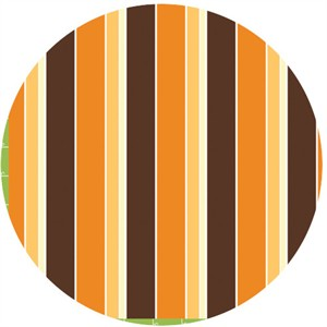 Monaluna Circa 60 Beach Mod for Birch Fabrics 100% Organic Sunset Stripe