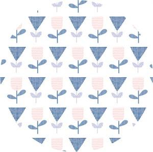 Cathy Nordström for Andover, Floral Splendor, Mod Tulips Blue