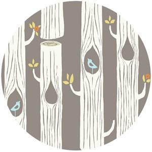 Monaluna for Birch Organic Fabrics, Circa 52, KNIT, Tree Stripes Shroom