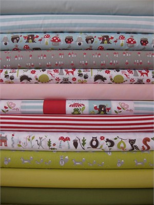 Monaluna, Fox Hollow in FAT QUARTERS, Organic, 12 Total