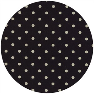 Momo, Linen Mochi Dot, Black