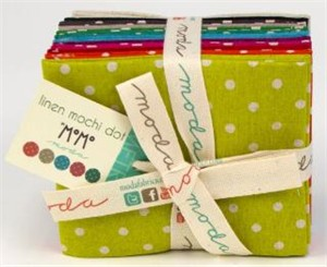 Momo, Linen Mochi Dot in FAT QUARTERS 12 Total (Pre-Cut)