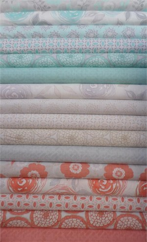 Moda, Modern Roses Entire Collection FAT QUARTERS 14 in Total