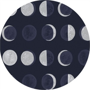 Rae Ritchie for Dear Stella, Moon Garden, Moon Phases Navy