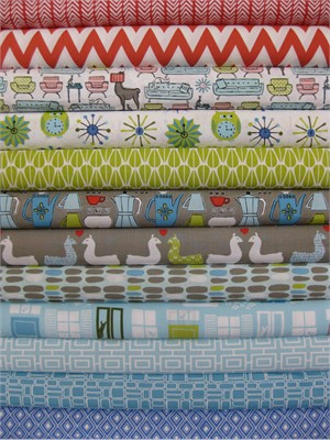Monaluna, Organic, Modern Home in FAT QUARTERS, 12 Total