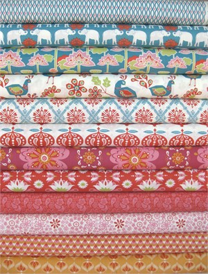 Monaluna, Raaga, Organic, Entire Collection in FAT QUARTERS 12 Total