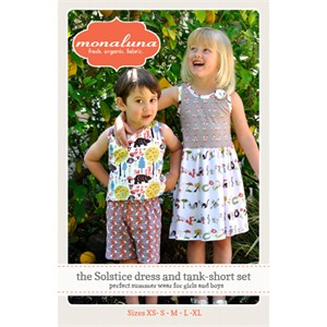 Monaluna Sewing Pattern, Solstice Dress and Tank Short Set