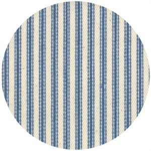 Moda, Twill, Nautical Ticking Stripes, Blue