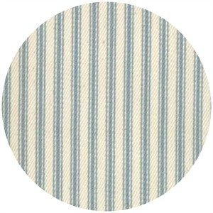 Moda, Twill, Nautical Ticking Stripes, Light Blue