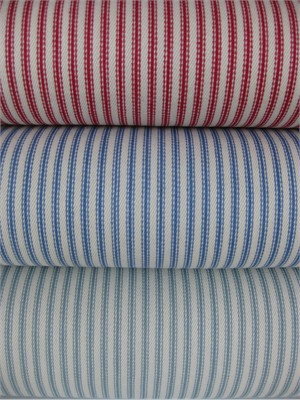 Moda, Twill, Nautical Ticking Stripes Sampler in FAT QUARTERS, 3 Total