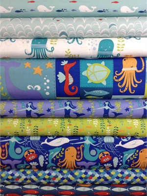 Monaluna, Under the Sea in FAT QUARTERS 8 Total