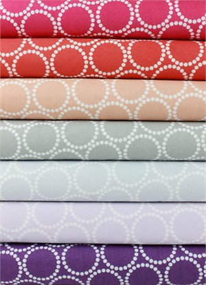 Lizzy House for Andover, Mini Pearl Bracelets, Orchard in FAT QUARTERS 7 Total