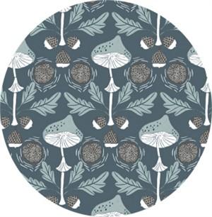 Rae Ritchie for Dear Stella, Folkwood, Mushroom Damask Canal