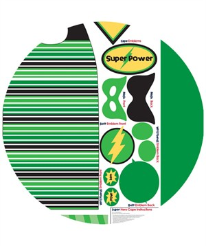 My Mind's Eye, Super Hero Cape Green (1 Yard Panel)
