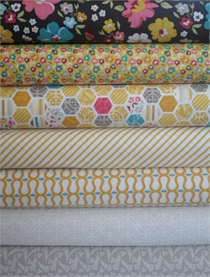 My Mind's Eye, Unforgettable, Gray/Yellow in FAT QUARTERS 7 Total
