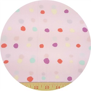 Nani Iro, Plisse, Painted Dot Pink