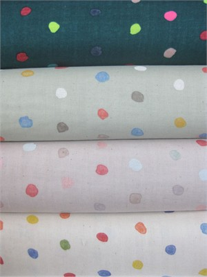 Naomi Ito for Nani Iro, DOUBLE GAUZE, Colorful Pocho in FAT QUARTERS 4 Total