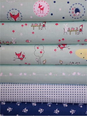 Natalie Lymer, Enchant, Aqua in FAT QUARTERS 6 Total