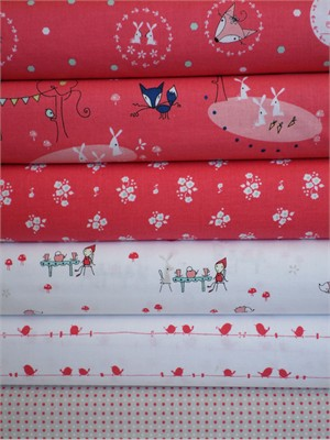 Natalie Lymer, Enchant, Pink in FAT QUARTERS 6 Total(Pre-cut)