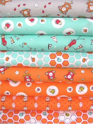 Natalie Lymer, Folktale, Fresh Squeeze in FAT QUARTERS 8 Total
